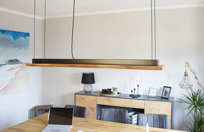 Deckenleuchte | batke dekor | holz & metall | Lemgo
