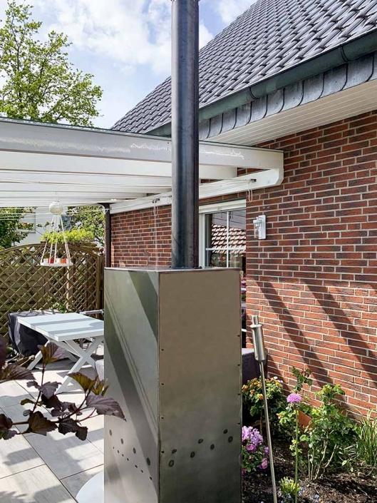 Kaminofen Outdoor | batke dekor | holz & metall | Lemgo